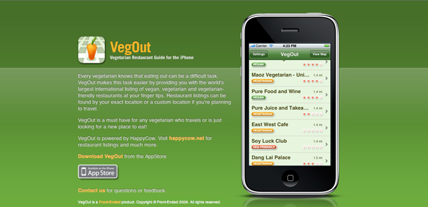 VegOut iPhone app