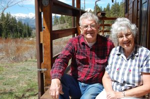 Duane and Betty at Leadville cabin