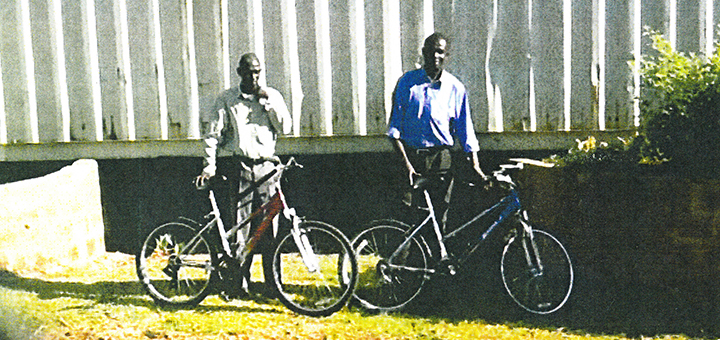More than 30 pastors are now using mountain bikes to reach their churches in Africa and India. Photo courtesy Central States Conference.