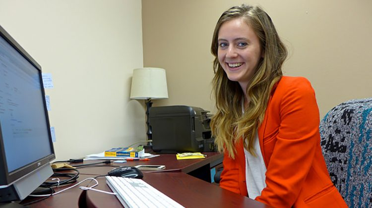 Katie Morrison worked for the RMC Communication Department during the summer of 2015. Photo by Rajmund Dabrowski.