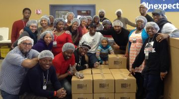 Central States youth volunteer at a Feed My Starving Children packing site. Photo courtesy Central States Conference.