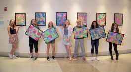 The work of these talented, enthusiastic students at American Academy Charter School in Parker, Colorado was recently exhibited in the main lobby art gallery at Parker Adventist Hospital. Photo courtesy Centura Health.