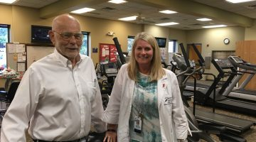Dr. Tom Dory and Libby Davis teamed up to facilitate a new cardiac rehab support group at SMH.