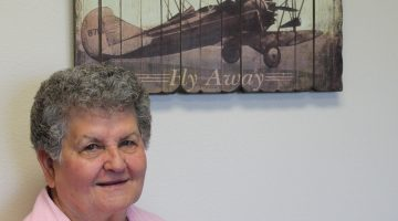 Ruth Chase served as a bookkeeper for both her church and her family's airplane business for nearly 30 years.