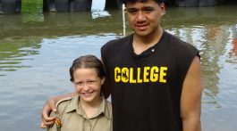 Shelby Halstead and Caleb Loa were baptized this spring during the Iowa-Missouri Pathfinder Camporee at Camp Heritage. Photo: Marcia Clark