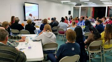 Pastor Eddie Cabrera conducts meetings at the Muscatine, Iowa, location. Photo courtesy Eddie Cabrera