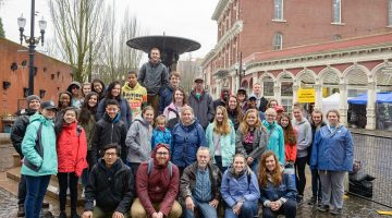 In March, the Kansas-Nebraska Conference sponsored a mission trip to Portland, Oregon, where participants teamed up with BridgeTown Ministries to offer assistance to and gain a better understanding of the local homeless population. Photo: Tim Floyd