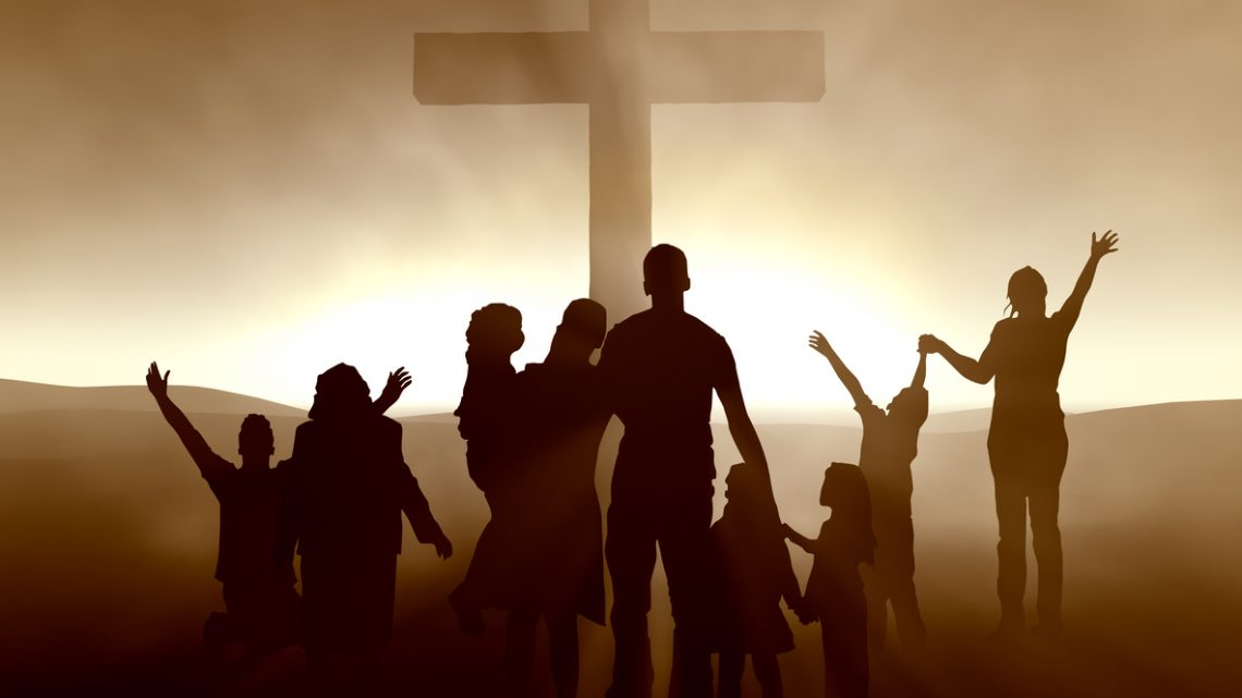 People at the Cross
